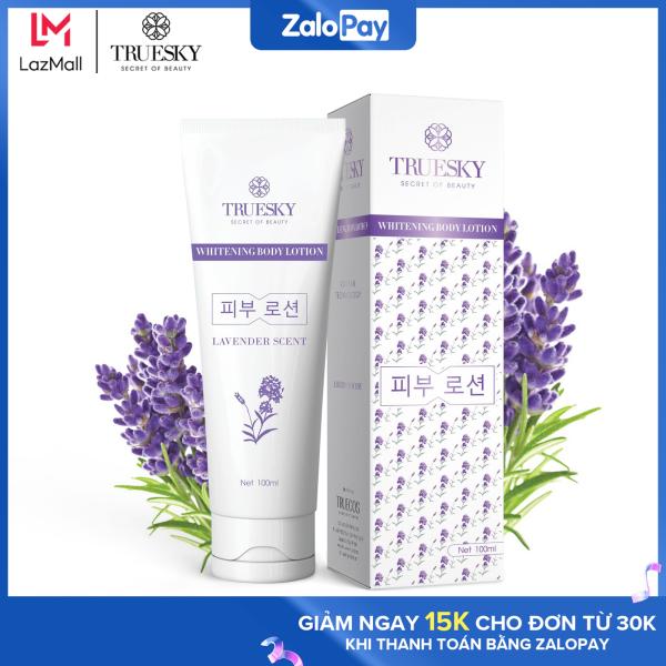 Kem body dưỡng trắng Truesky dạng lotion hương nước hoa Pháp 100ml - Whitening Body Lotion cao cấp