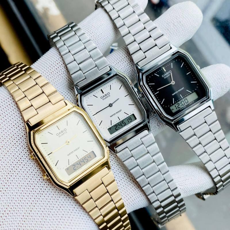 (ảnh thật) Đồng hồ Unisex Casio AQ230 - Chính hãng