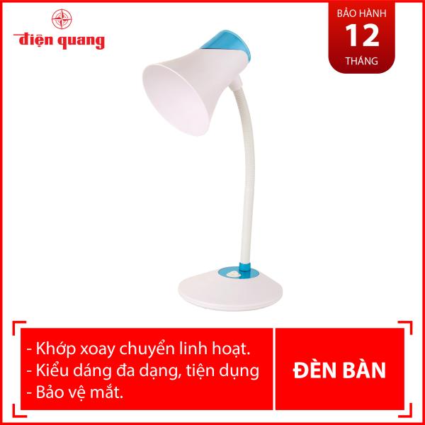 Đèn bàn bảo vệ thị lực Điện Quang ĐQ DKL15 WBE B (màu trắng- xanh da trời, bóng led daylight)