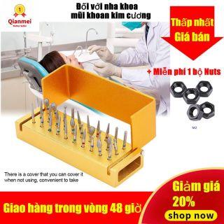 Qianmei Golden Dental Tay Cầm Tốc Độ Cao + 30 Mũi Khoan Kim Cương Nha Khoa thumbnail