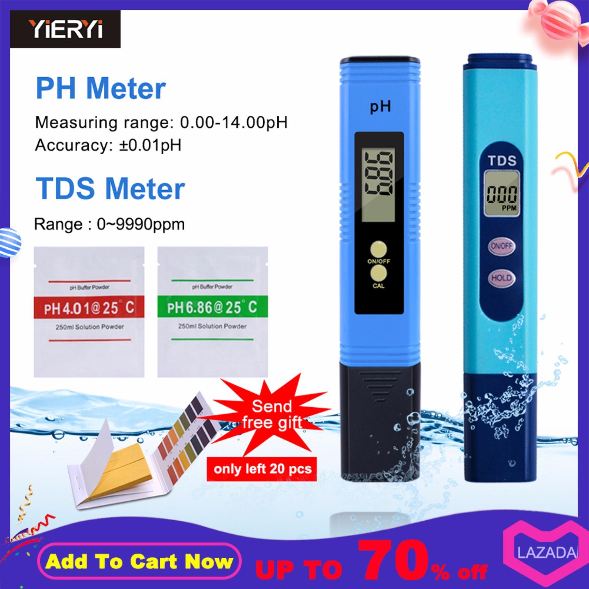 Watere chất lượng Máy Đo ĐỘ PH BÚT đo TDS METER 2 trong 1 Bộ 1 0-9990 TRANG/PHÚT Khoảng Đo 1 TRANG/PHÚT