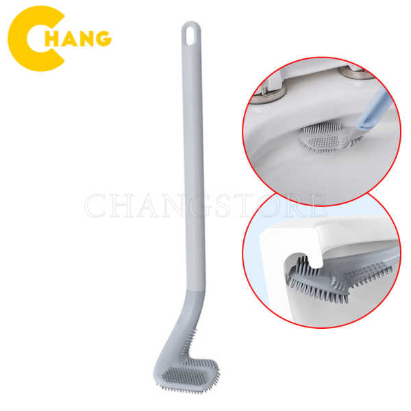 Chổi cọ Toilet Silicon thông minh, chổi cọ đầu thuôn nhỏ dễ dàng cọ sạch, chống xước bồn cầu