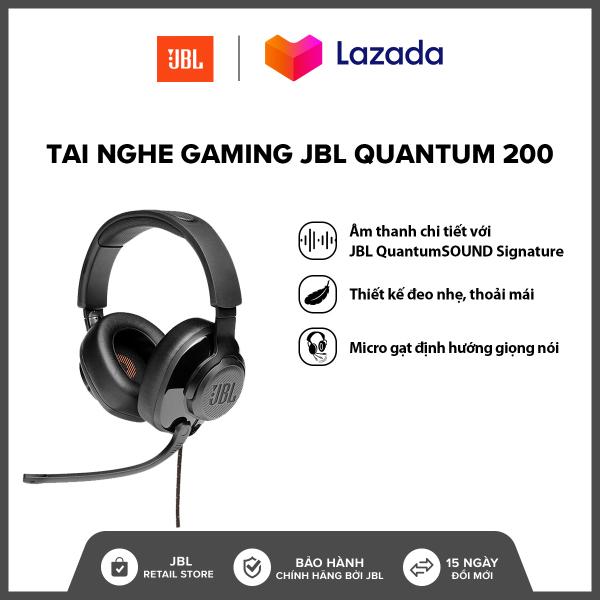 Bảng giá Tai nghe Gaming JBL Quantum 200 l Công nghệ JBL QuantumSOUND Signature l Driver 50mm l Đệm tai xốp thoải mái l Tương thích đa nền tảng l HÀNG CHÍNH HÃNG Phong Vũ