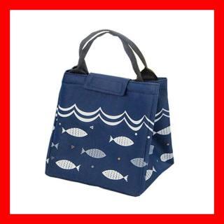 Túi giữ nhiệt đựng cơm văn phòng họa tiết hình cá - hình 1