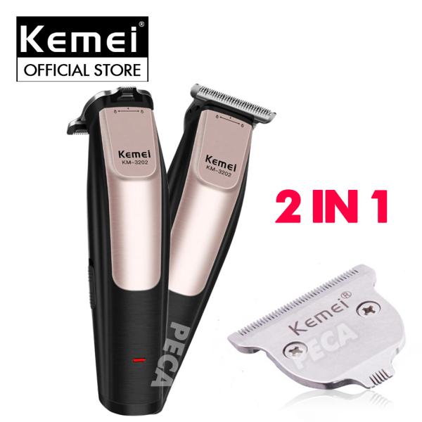 Tông đơ chấn viền chuyên nghiệp 2in1 Kemei KM-3202 có thể chấn viền, khắc tóc,tatoo,tạo kiểu đa dạng, đầu chấn siêu sát chỉ 0.1mm - Phân phối chính hãng