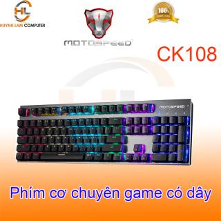Phím cơ chuyên game MotoSpeed CK108 (xám) Led - NWH phân phối thumbnail