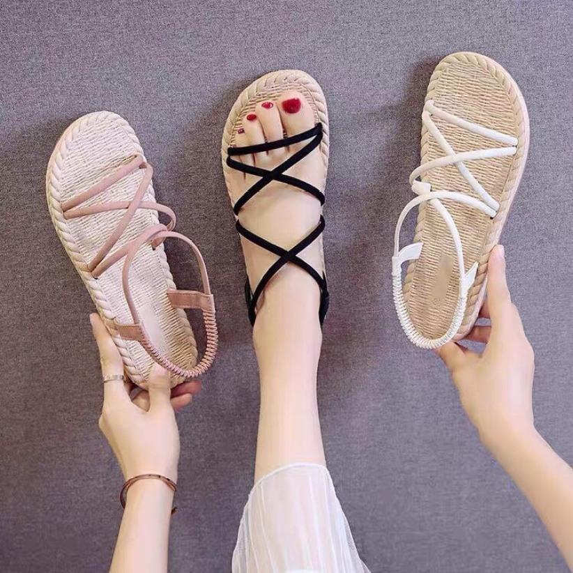 Sandal Quai Chéo Giả Cói giá rẻ