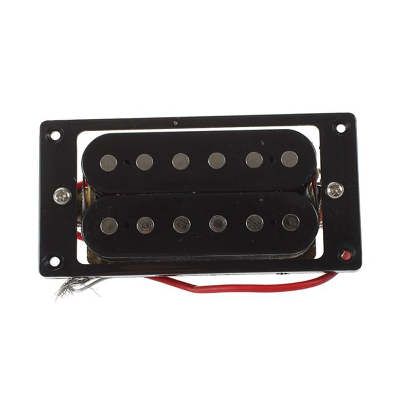 2PCs(1 set)Black Humbucker Double Coil Electric Guitar Pickups + Frame Screw