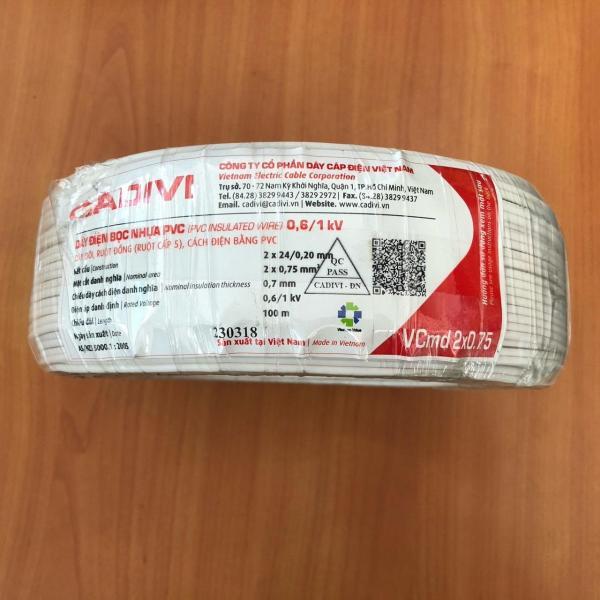 Bảng giá Dây điện đôi mềm CADIVI - Vcmd 2x0.75 - 100mét
