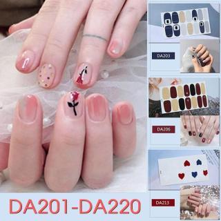Tấm sticker đẹp mắt dùng dán trang trí móng tay mã DA201 - DA220 thumbnail