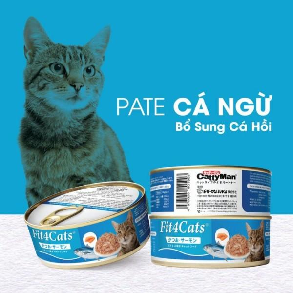 Pate cho mèo từ Nhật Bản vị cá ngừ và cá hồi 160gr, thức ăn bổ sung đầy đủ chất dinh dưỡng cần thiết cho mèo - Xudapet - SP000619