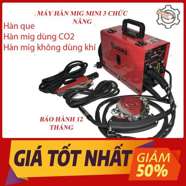 Máy hàn Mig SASUKE 200 mini không dùng khí 3 chức năng-Bảo hành 12 tháng-Máy hàn Mig-Tặng kèm cuộn dây lõi thuốc 0.5kg