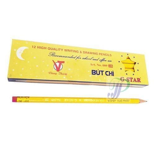 Mua Hộp 12 cây bút chì 2B thân vàng Gstar