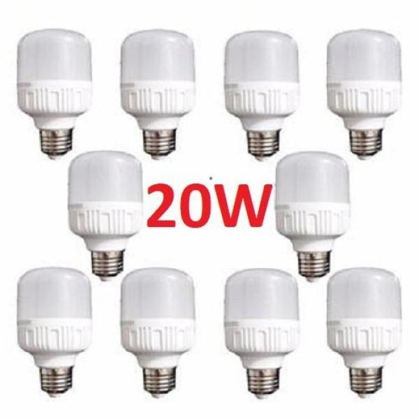 Bảng giá Combo 10 bóng đèn Led 20W cao cấp tiết kiệm năng lượng điện. Bảo hành: 12 Tháng. Cam kết giá rẻ nhất thị trường.
