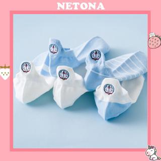 Combo 5 đôi vớ tất nữ cổ thấp gót hình Doremon Vintage Hàn Quốc TN80 thumbnail