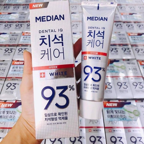 [ Màu trắng ] Kem Đánh Răng Thơm Miệng Median Dental Iq 93% 120g giá rẻ