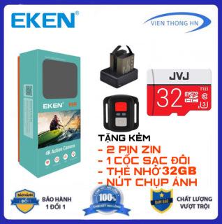 TẶNG THẺ NHỚ 32GB camera 4k Eken H9r bản mới V8 nâng cấp 20MP Tặng 1 pin và 1 dock sạc đôi- camera wifi ip xe ma y oto phươ t chô ng nươ c chô ng sô c - camera hành trình phượt mini thumbnail
