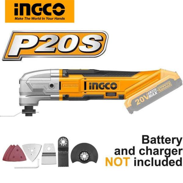[HCM]Máy cắt rung đa năng dùng pin Lithium 20V Ingco CMLI2001 ( không kèm pin và sạc )