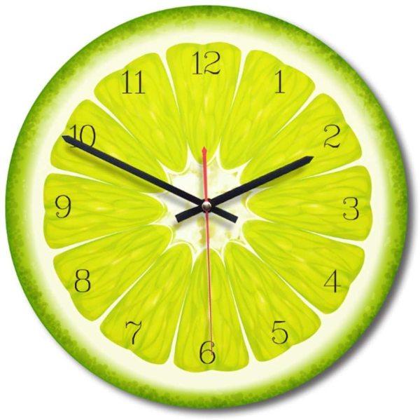 Nơi bán Đồng hồ treo tường quả cam xanh 20x20cm . tặng pin aa và móc treo đinh 3 chân