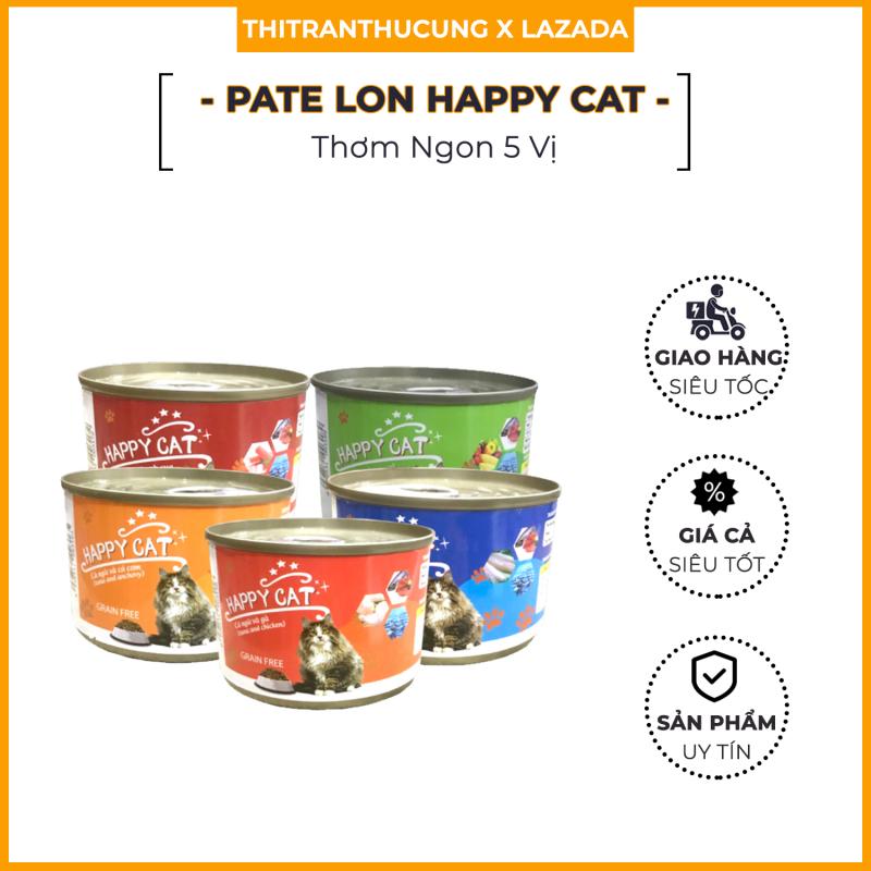 Thức Ăn Cho Mèo Pate Happy Cat 160G - Siêu Tiết Kiệm