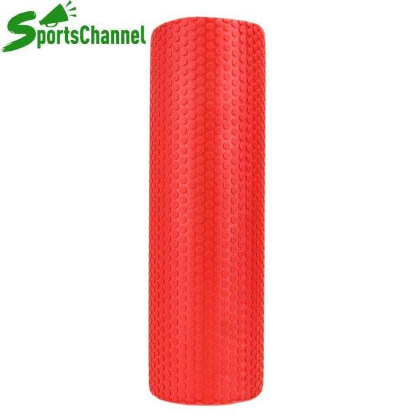 Sportschannel 45x15cm EVA Foam Roller Yoga Pilates with Massage Floating Points(Red) - intl
