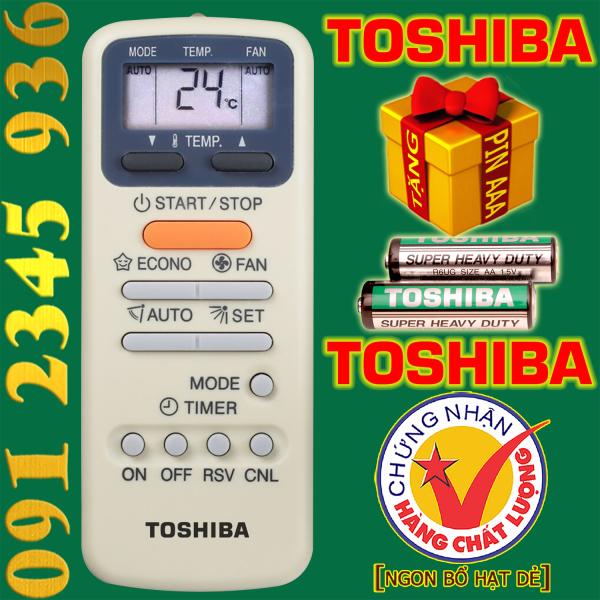 Điều khiển TOSHIBA [HÀNG ĐẸP] cho điều hòa. (Mẫu số 4)