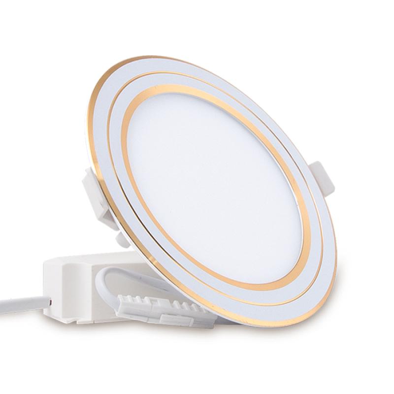 Đèn LED Panel tròn đổi màu Chính hãng Rạng Đông Siêu tiết Kiệm diện Dễ dàng lắp đặt Cho dải ánh sáng đẹp D PT05L DM 90/6W Viền Bạc, Vàng
