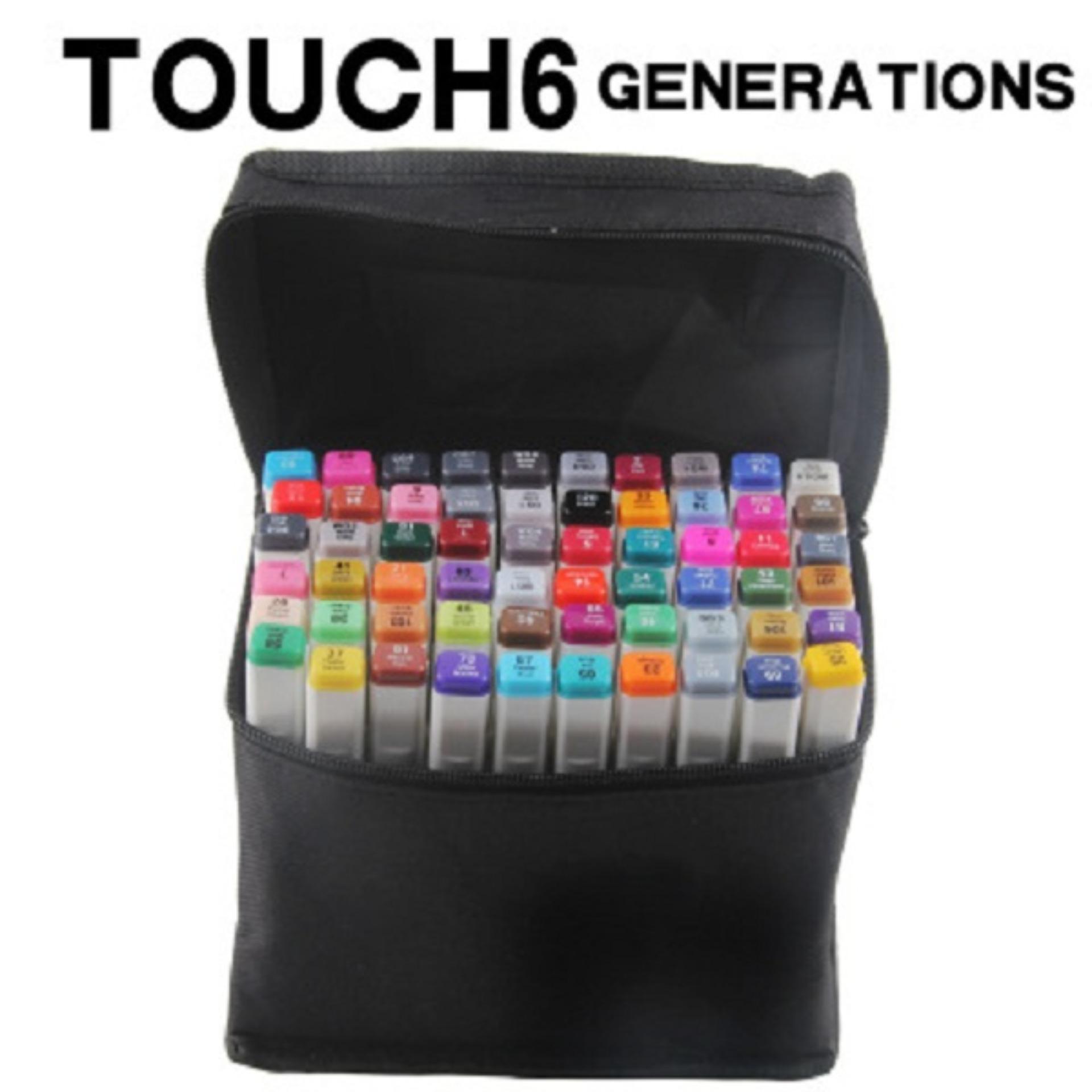 Voucher Khuyến Mại Bộ 30 Bút Màu Marker Touchliit 6 Chất Liệu Nhựa An Toàn, Màu Lên Tươi, đầu Bút Tô êm Và Mịn.