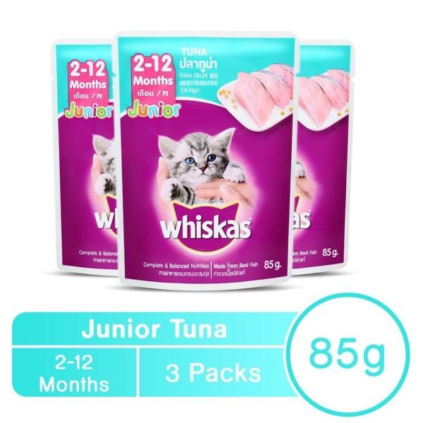 24 gói Thức ăn Pate sốt vị cá ngừ cho mèo con - Junior Whiskas Thái Lan