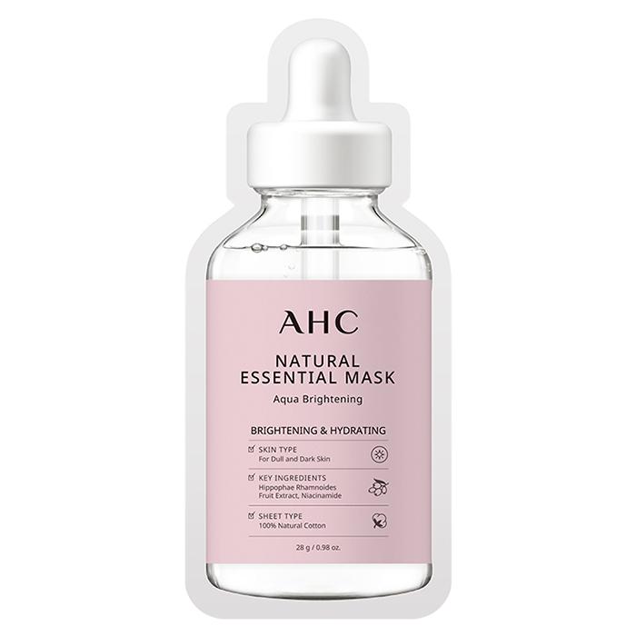 Mặt nạ giấy làm sáng da AHC Natural Essential Mask Aqua Brightening