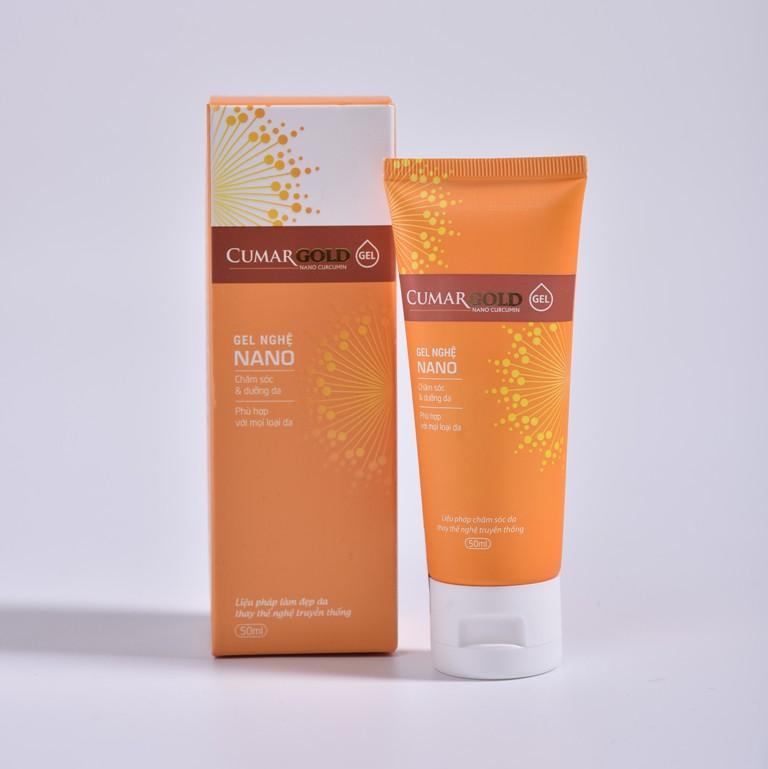 Cumargold Gel - tinh chất nghệ nano làm mờ thâm nám, dưỡng sáng da và chống lão hóa da hiệu quả, an toàn (50ml) nhập khẩu