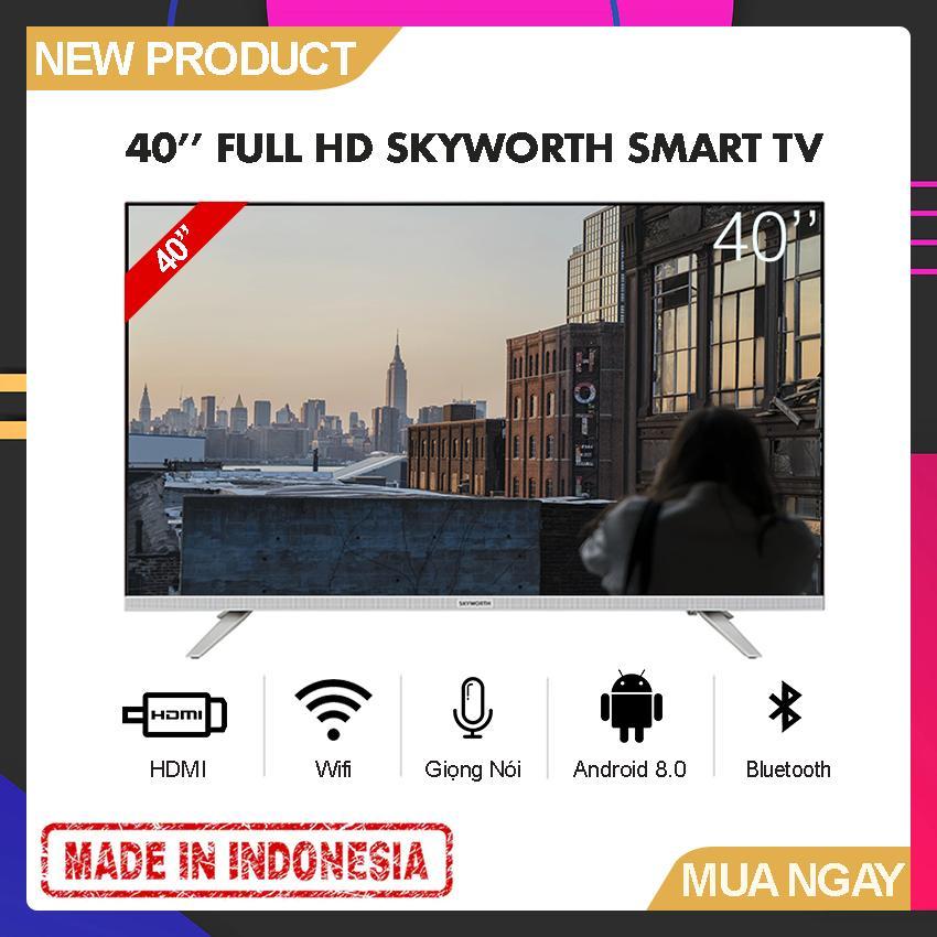 Bảng giá Smart Voice TV Skyworth 40 inch Full HD - Model 40E6 (Android 8.0, Google Assistant, Tìm kiếm giọng nói, Tích hợp DVB-T2, Wifi) - Bảo Hành 2 Năm