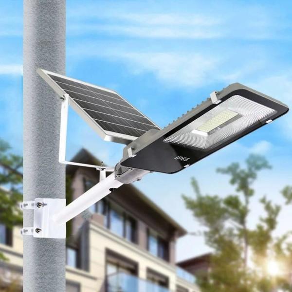 Bảng giá Đèn đường năng lượng mặt trời tấm PIN rời 100W Có remote Có giá đỡ gắn đèn BH 12 tháng IP65 218 led siêu sáng