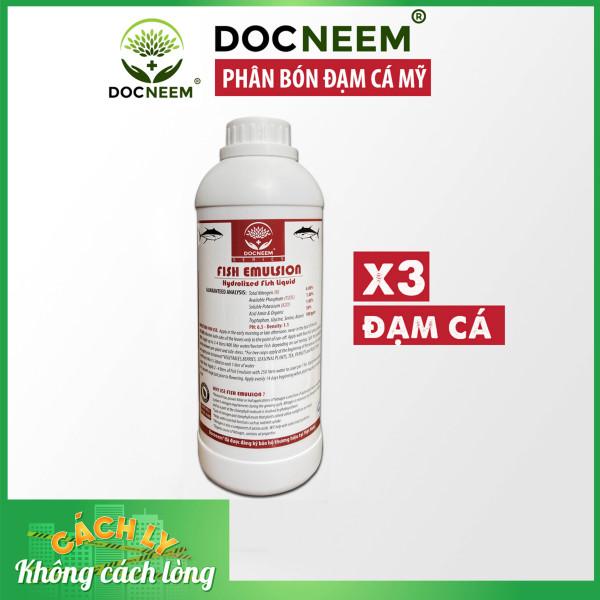 Phân đạm cá Docneem, phân cá Fish Emulsion (1 lít)  hữu cơ cho hoa hồng, rau sạch, hoa, cây cảnh trong nhà ngoài trời