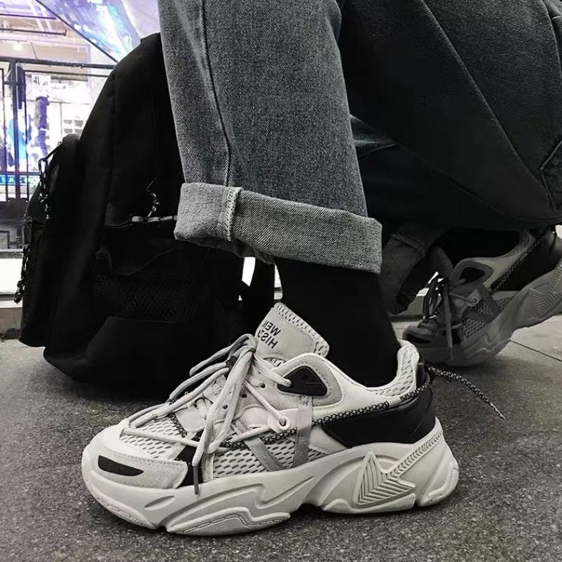 Giày Thể Thao Ulzzang Cao Cấp Đế Cao Sneaker Nam Nữ Dây Phản Quang Cao Cấp giá rẻ
