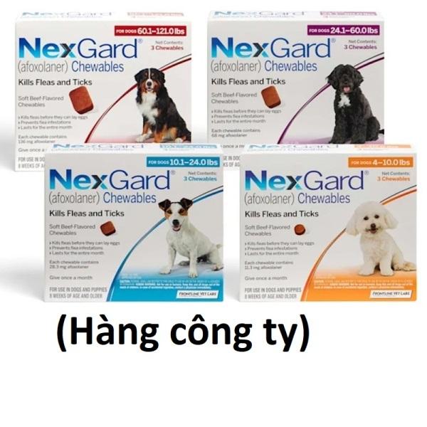 (Hàng công ty)  Thuốc diệt ve ghẻ, bọ chét trên chó - 1 viên Nexgard cho chó (No Box)