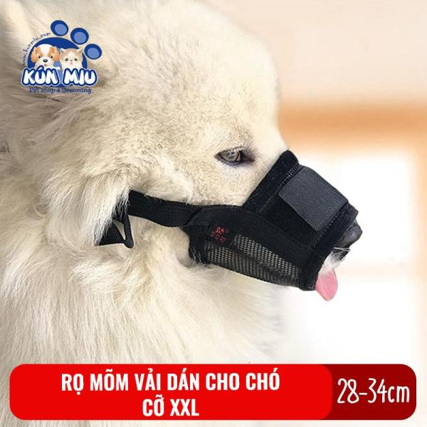 Rọ mõm cho chó Kún Miu cỡ XXL chất liệu vải dán chắc chắn, dễ dàng sử dụng