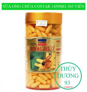 Sữa Ong Chúa Royal Jelly Costar Úc 1450mg 365 viên bổ sung dinh dưỡng cao cho cơ thể giúp cải thiện sức khỏe cho người mới ốm dậy, cải thiện hệ tiêu hóa, giúp da mịn màng, trắng hồng rạng rỡ thu hút mọi ánh nhìn thumbnail
