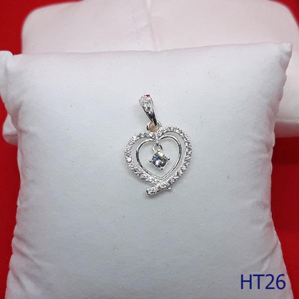 Mặt dây chuyền trái tim bạc cao cấp ! Size 17mm