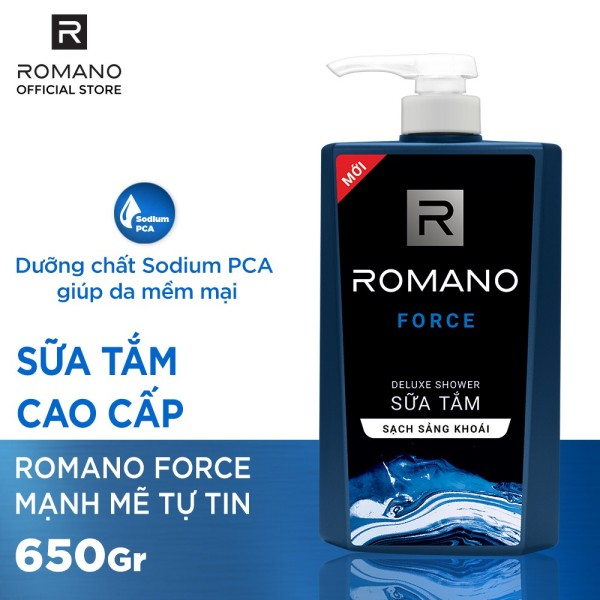 [HCM]Sữa tắm Romano Force cổ điển lịch lãm 650g nhập khẩu