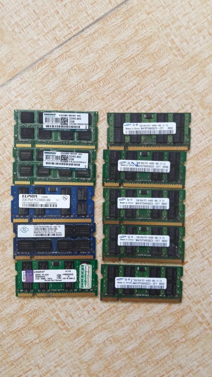 Ram DDR2 2G bus 800 Hàng tháo máy bộ mới keng cho máy bàn