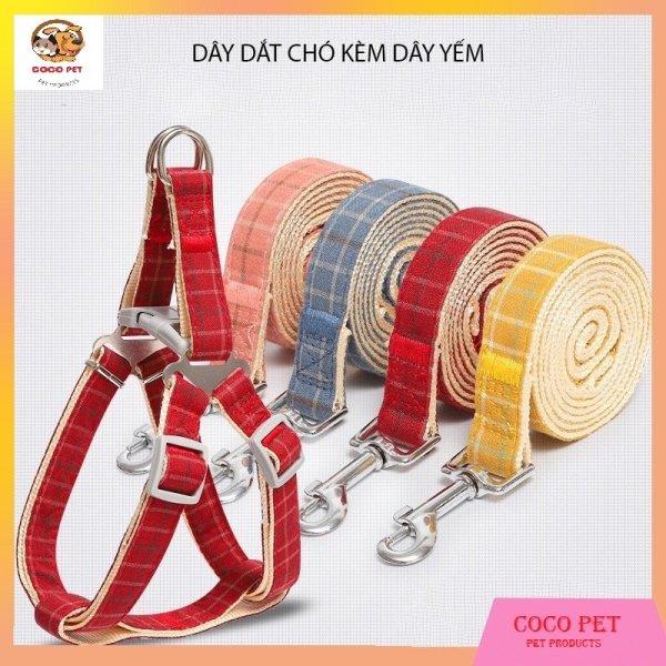 Dây Dắt Chó Mèo Kèm Yếm Đeo Kiểu Hàn Quốc ( Dành Cho Chó 1kg - 20kg)