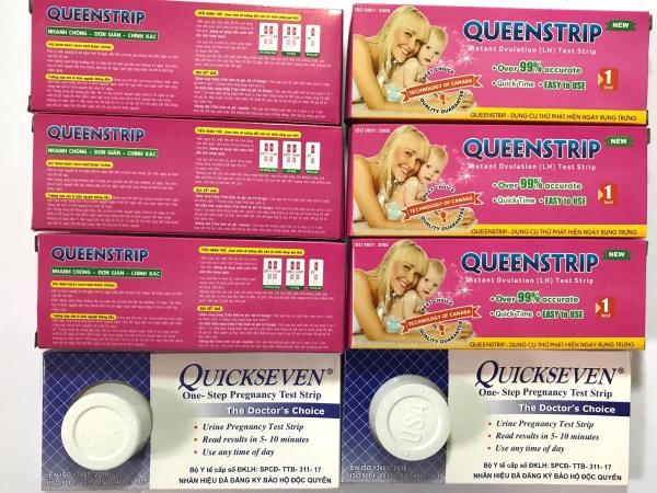 Combo 6 que thử rụng trứng Queenstrip New tặng 2 que Quickseven