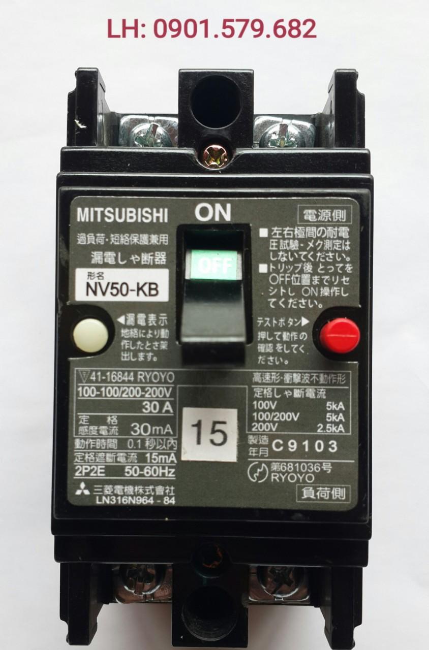 Aptomat Chống Giật Nhật bản Mitsubishi 30A