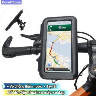 Decophone Giá Đỡ Điện Thoại Xe Máy Xe Đạp Với Vỏ Chống Nước, Giá Đỡ GPS Xe Đạp Thông Dụng Túi Đứng Sang Trọng Cho Điện Thoại Di Động iPhone Samsung Galaxy thumbnail