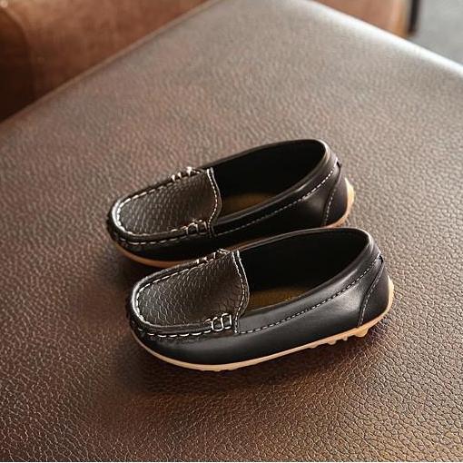 Giá bán Giày lười da trơn cho bé trai và bé gái kiểu nhật từ 1 đến 15 tuổi