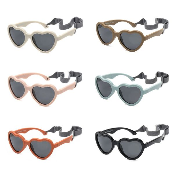 Giá bán EWELLBE 0-24 Months Girls and Boys Heart-Shaped for Toddler Polarized Baby Sunglasses UV Protection with Adjustable Strap
