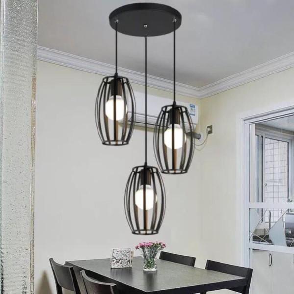bộ đèn thả bàn ăn 3 chao - đèn thả trang trí