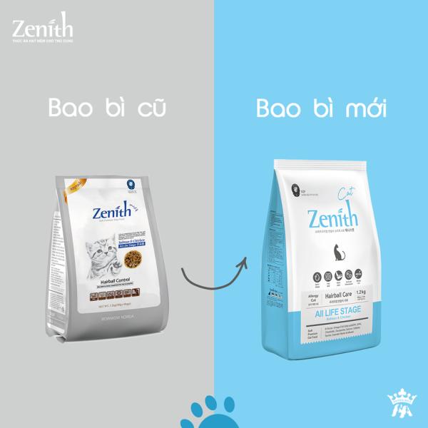 Thức ăn hạt mềm cho mèo Zenith Hairball  1.2kg