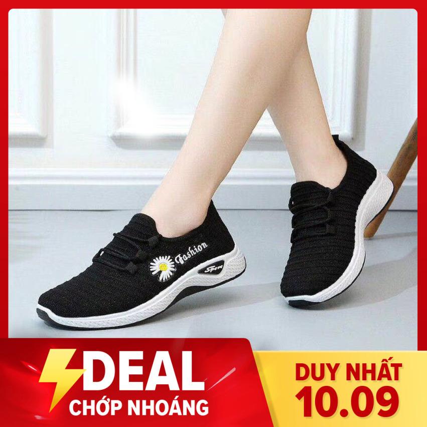 Giày giả dây họa tiết hoa cúc SALE LỚN l Giày nữ thể thao l giày đi bộ l giày thể dục l giày chạy bộ l giày đi chơi l giày dành cho người đi bộ nhiều l giá rẻ